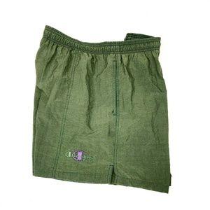 Vintage CHAMPION Swim Trunks Shorts Green Purple